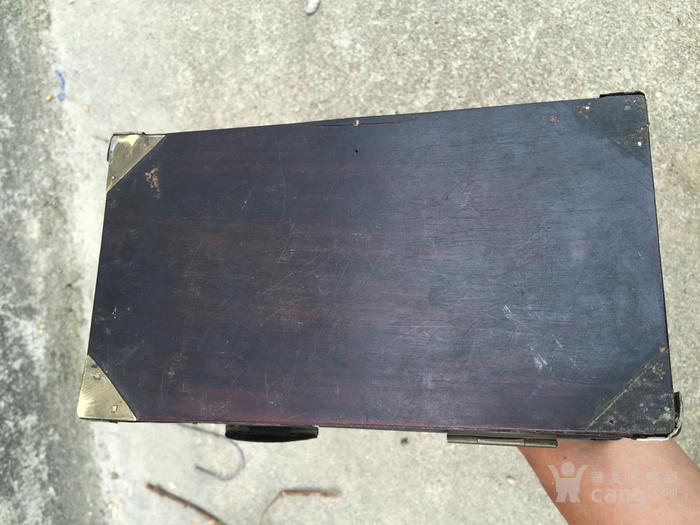 明式老红木铜包角首饰箱