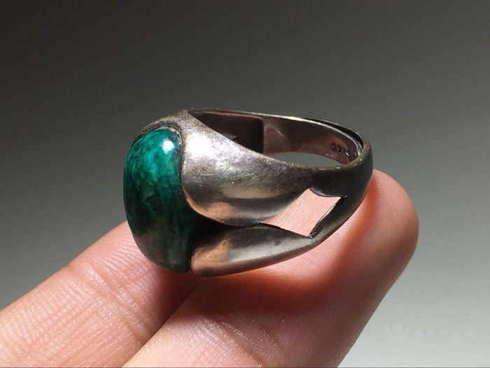 清 满脑 虬角 镶嵌 925银 戒指 手工打造 脑花非常漂亮图5