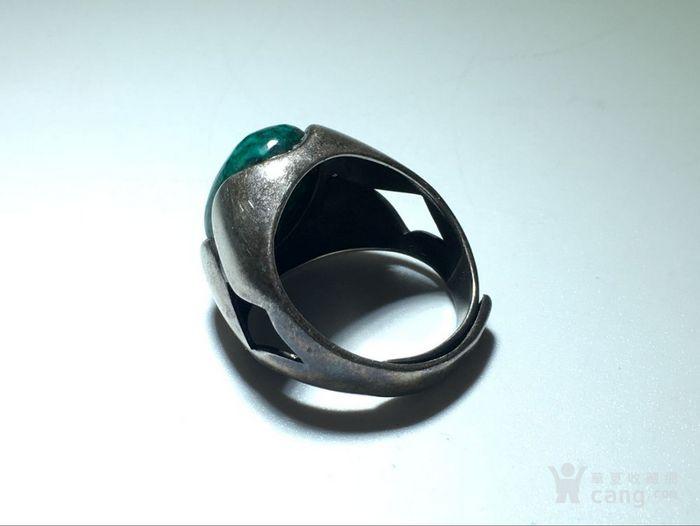 清 满脑 虬角 镶嵌 925银 戒指 手工打造 脑花非常漂亮图1