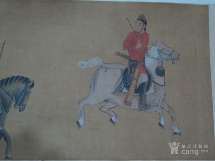 清代金廷标骑马人物手卷
