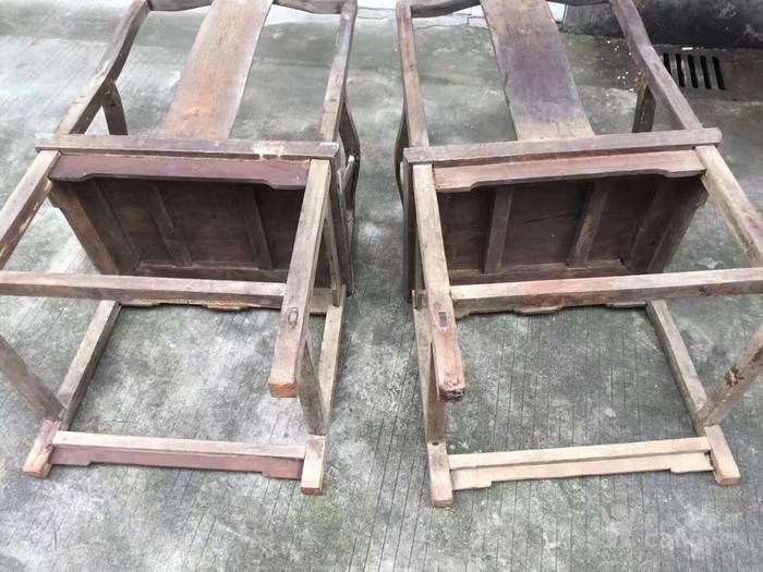 清中期铁力木文房椅