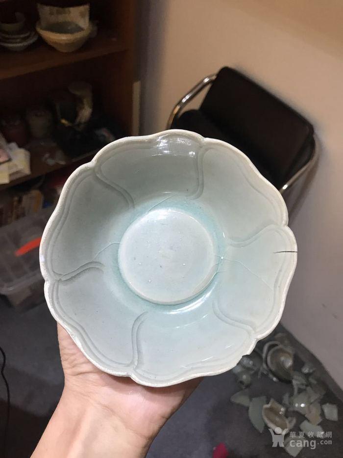 南宋早期 龙泉窑 花口碗