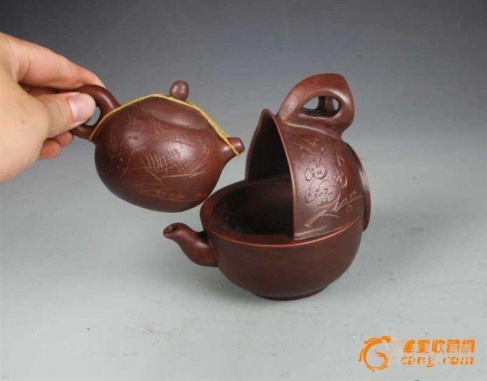紫砂壶母子壶一大一小非常漂亮