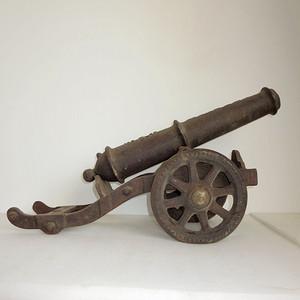 镇宅铁器 同治鎏金老铁器