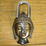 老铜锁 佛头锁 尼泊尔铜锁