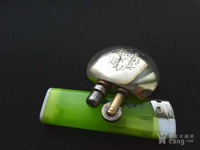 一战时期法国油壶造型纯手工制作纯铜镀银古董煤油打火机