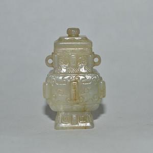 和田籽料 花纹玉瓶