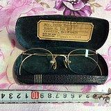 老德国金丝边眼镜 纯14K金