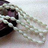 白玉橄榄珠链