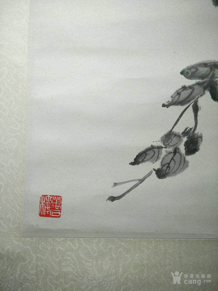 赵叔孺张大千弟子书画篆刻家陶寿伯绘秋菊图纸本立轴于万石楼图5