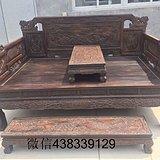 清代老木器酸枝红木旧家具罗汉床一件