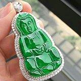 缅甸翡翠冰种帝王绿观音