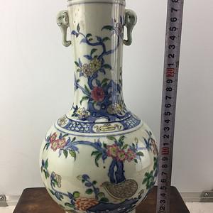 加彩花卉瓷瓶A1282
