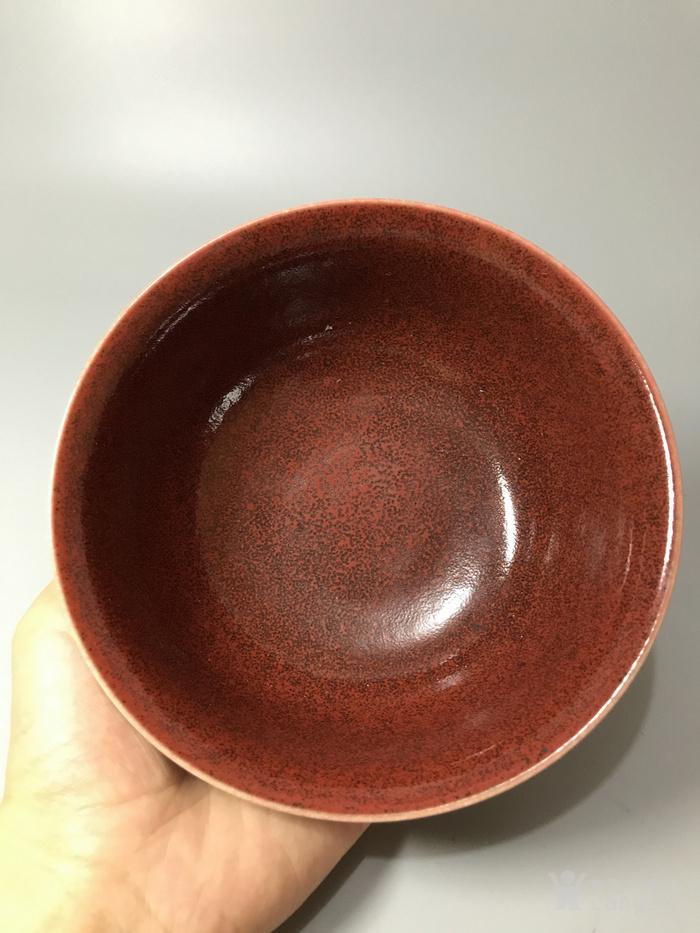 瓷器 康熙霁红碗