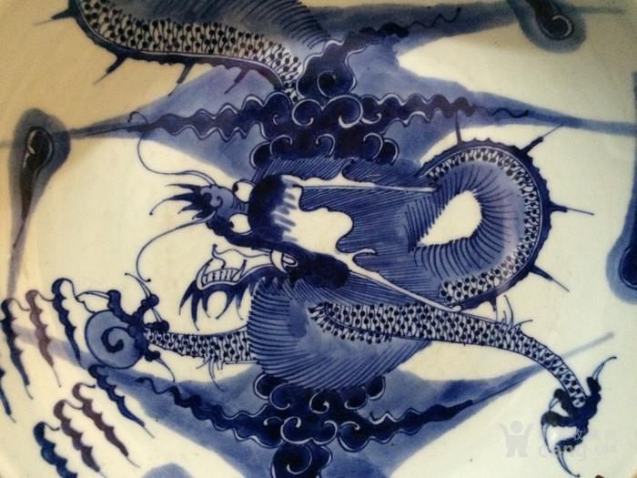 瓷器 青花过墙龙盘