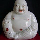 民国 全品醴陵窑 开记 款白瓷弥勒佛 罗汉