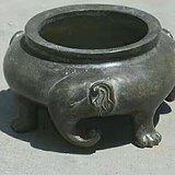 三象炉,蟹壳青皮壳。