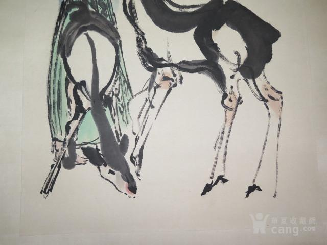 程十发少女与鹿
