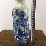 青花山水隐士老瓷瓶A2178
