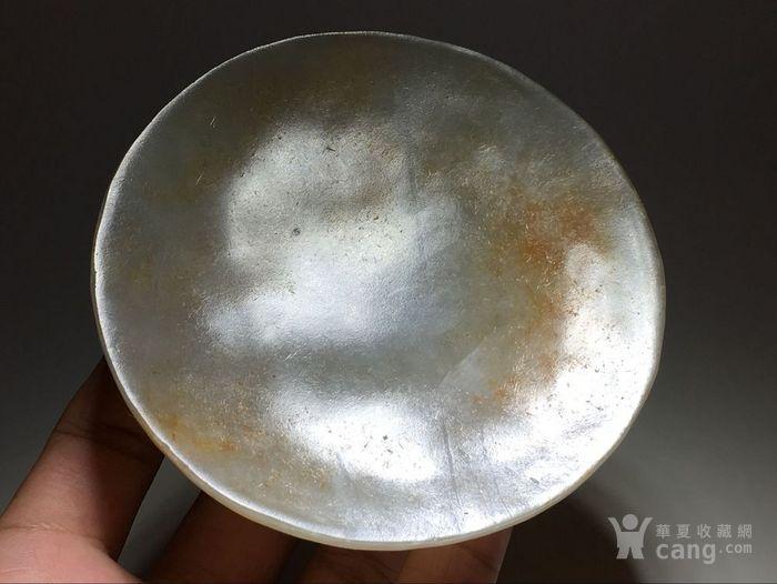 清 和田玉 籽料 玉盘 团团圆圆 手工制作