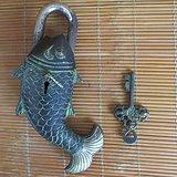 老铜锁 鲤鱼铜锁带机关