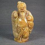 老黄寿山布袋老翁摆件