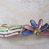 民国 铜质珐琅彩发夹