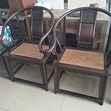 红木藤面圈椅