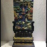 古玩古董印度紫檀镶青金插屏