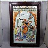 民国名家胡泰茂作三星拱照人物绘画瓷板