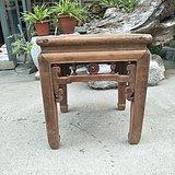 榉木拐子龙方凳