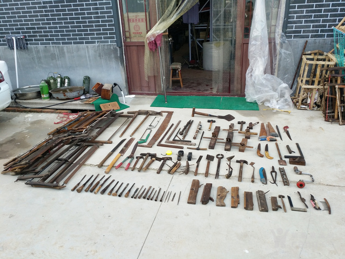 老木工工具108件图片