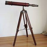 英国维多利亚时代天文望远镜 古董全铜天文望远镜