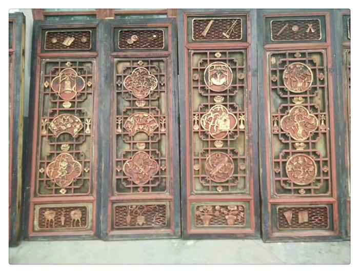 精品方窗一套10片明清老木雕手工木雕j 4707