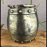 清代传世精品白铜壶