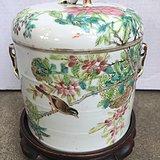 朱少泉画富贵白头罐。
