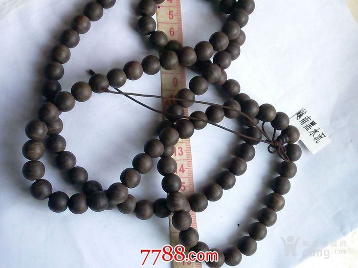 越南黑水沉香108颗手钏 1.1cm
