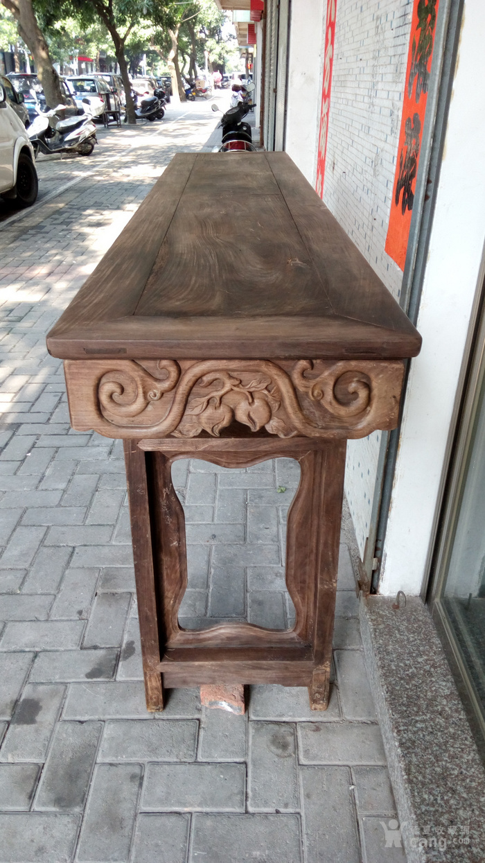 清代老红木酸枝灵芝树国桥桌
