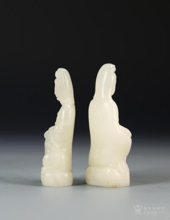 两块中国白石观音