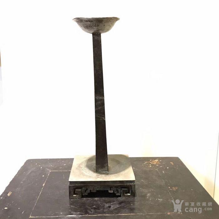 民国锡制烛台