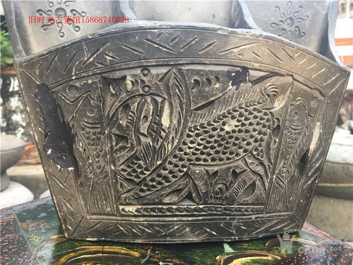 民俗老物件麒麟筷子笼