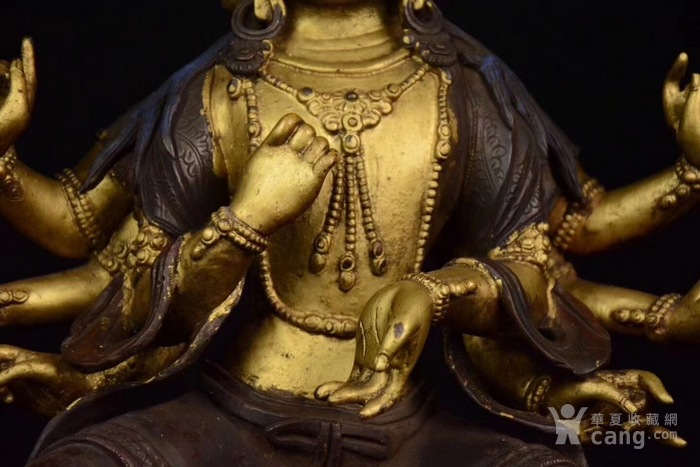 铜泥金四面八臂圣母