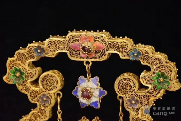 银鎏金烧蓝掐丝摆件