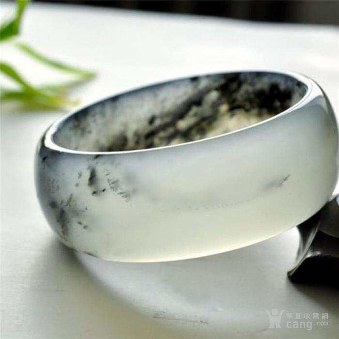岫岩玉���b�ek�.���/_时尚东北水墨玉飘花加宽岫玉手镯 冰莹润泽青花岫岩玉