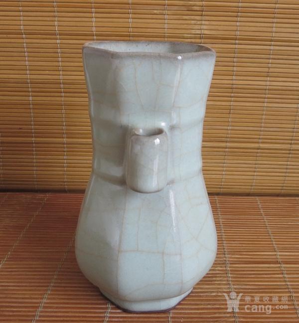 哥窑花瓶 金丝铁线六方瓶图4