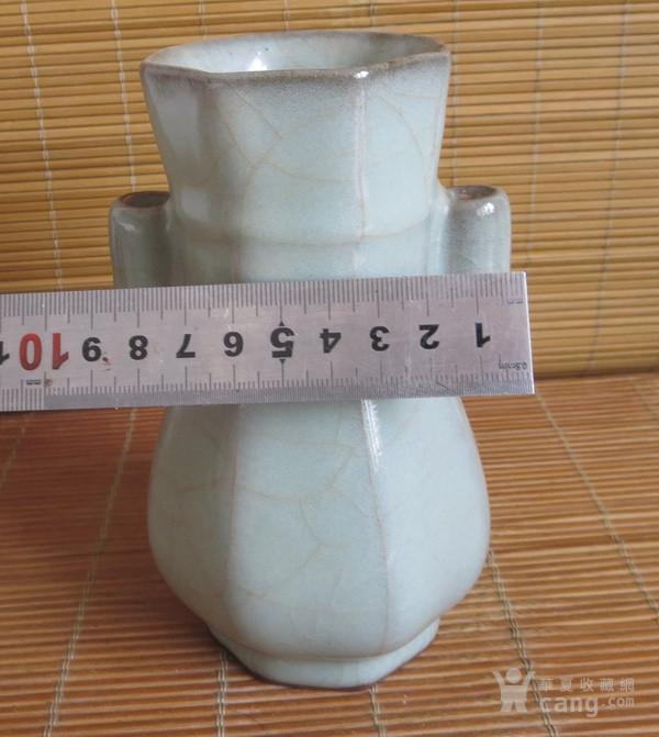 哥窑花瓶 金丝铁线六方瓶图11
