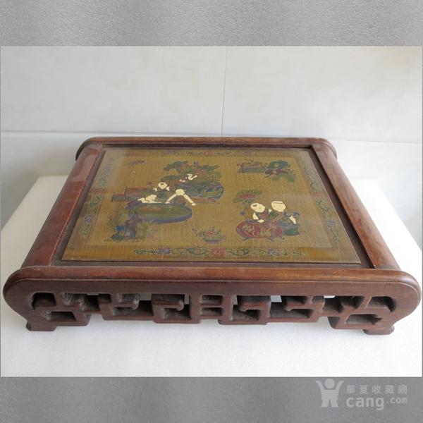 花梨木漆器茶几 炕几 炕桌图1