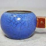 晚清蓝釉鸟食罐
