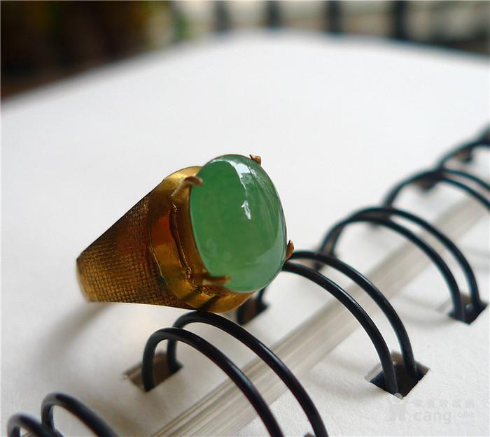 满绿铜拖戒面
