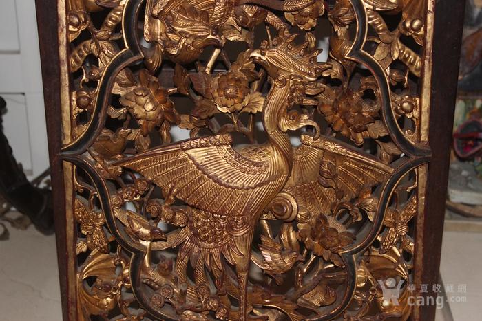 清代潮州老木雕挂件图3
